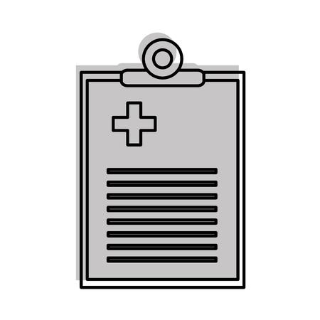 Médico de lanzamiento de documento icono de ilustración vectorial de diseño Foto de archivo - 82029232