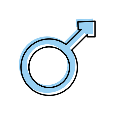남성 기호 격리 된 아이콘 벡터 일러스트 레이 션 디자인