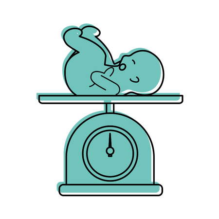 scale with baby isolated icon vector illustration design
