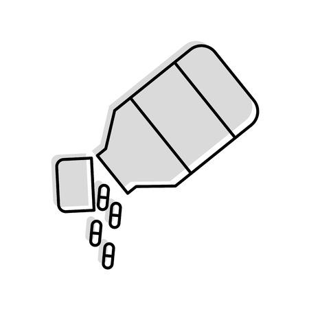 bottle drugs isolated icon vector illustration design Фото со стока - 82029306