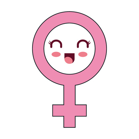 female symbol  character vector illustration design