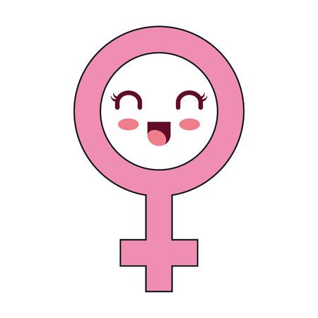 female symbol  character vector illustration design
