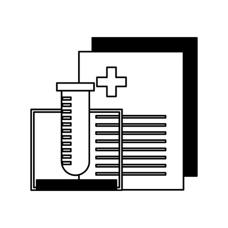 tube test with medical order document icon vector illustration design