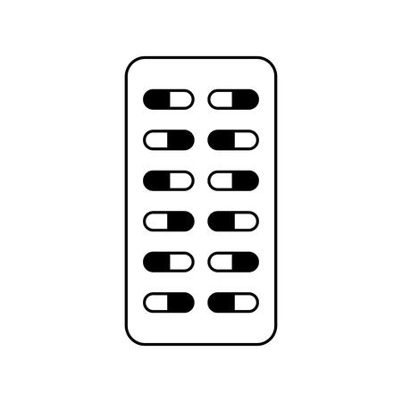 medische capsules geïsoleerd pictogram vector illustratie ontwerp