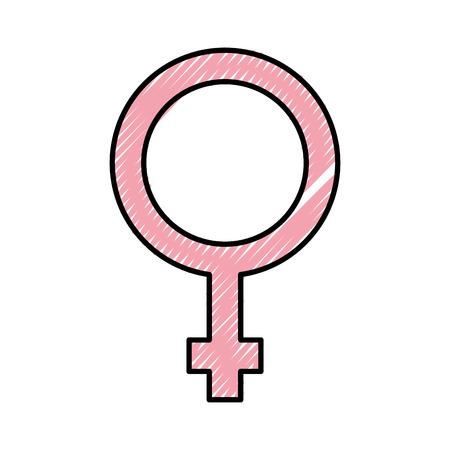 女性のシンボルがアイコン ベクトル イラスト デザインを分離しました。 写真素材 - 82029384