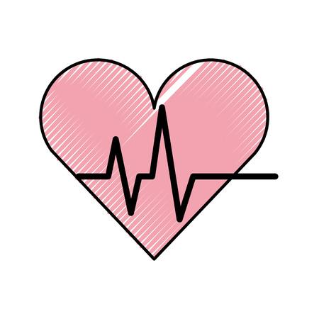Coeur cardio icône isolé illustration vectorielle conception Banque d'images - 82032098
