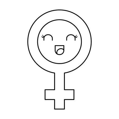 female symbol character vector illustration design Illustration