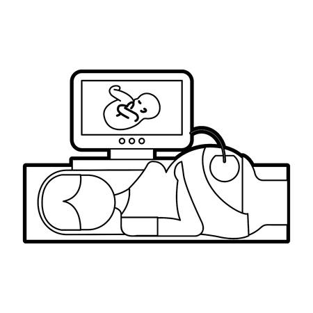 Écran ultrasonique isolé icône illustration vectorielle design Vecteurs