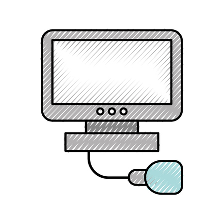 Ultrasound monitor isolated icon vector illustration design