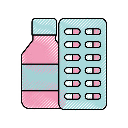 bottle drugs isolated icon vector illustration design Фото со стока - 82032234