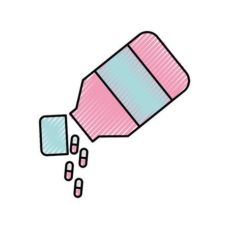 bottle drugs isolated icon vector illustration design Stock Vector - 82032235