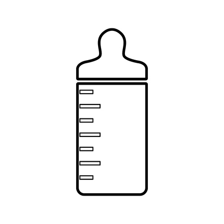 soothers: bottle baby isolated icon vector illustration design