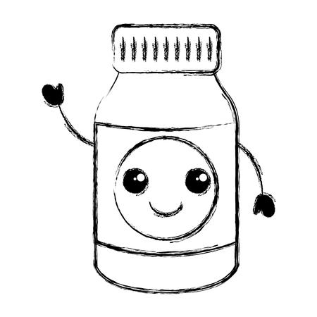 ボトル薬文字ベクトル イラスト デザイン  イラスト・ベクター素材