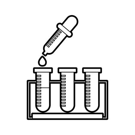 tube test with dropper vector illustration design