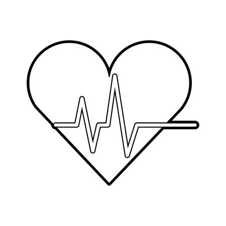 Coeur cardio isolé icône du design illustration vectorielle Banque d'images - 82032277