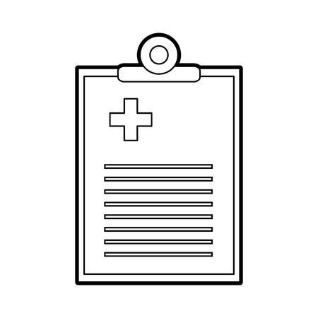 medical order document icon vector illustration design