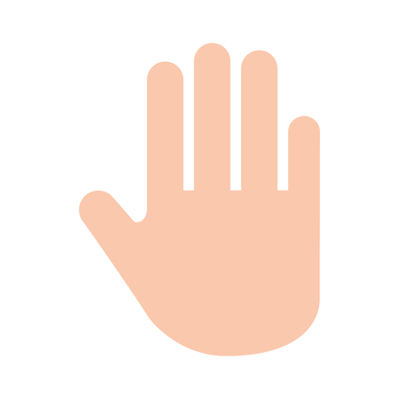 hand human stop icon vector illustration design Banco de Imagens - 82032286