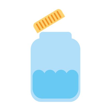 mason jar bottle icon vector illustration design Banco de Imagens - 82032136