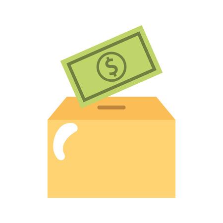お金ベクトル イラスト デザイン包装ボックス カートン
