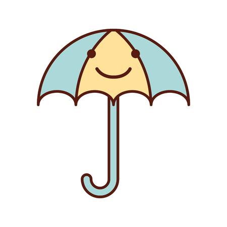 little umbrella isolated icon vector illustration design Illustration