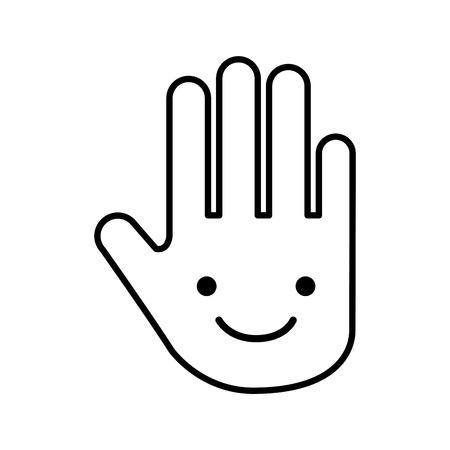 hand human stop character vector illustration design Ilustracja
