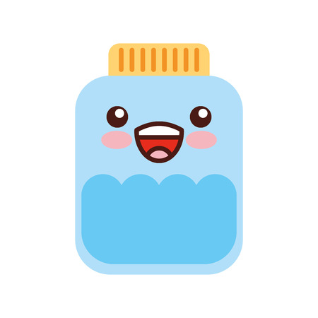 mason jar bottle kawaii character vector illustration design Banco de Imagens - 82039750