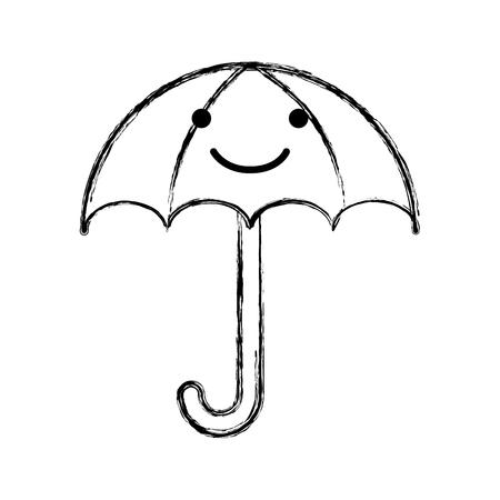 little umbrella isolated icon vector illustration design 向量圖像