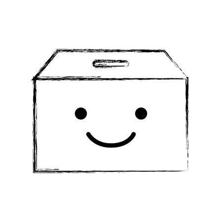 文字ベクトル イラスト デザインを梱包ボックス カートン