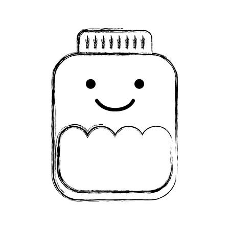 mason jar bottle   character vector illustration design