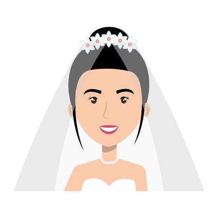 Linda esposa avatar carácter ilustración vectorial diseño Foto de archivo - 82032178