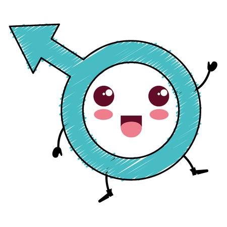 male symbol character vector illustration design