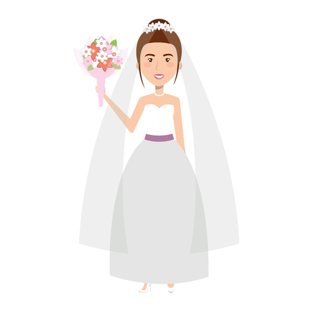 cute wife avatar character vector illustration design