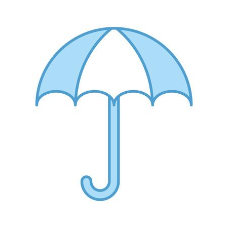 little umbrella isolated icon vector illustration design Иллюстрация
