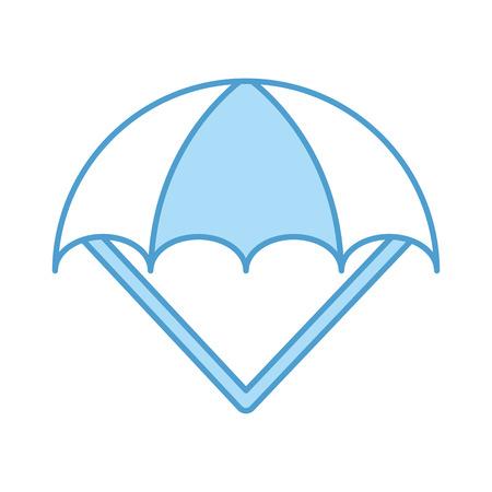 parachute open isolated icon vector illustration design Stock Vector - 82032307