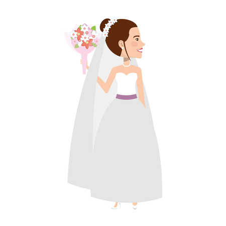A cute wife avatar character vector illustration design.