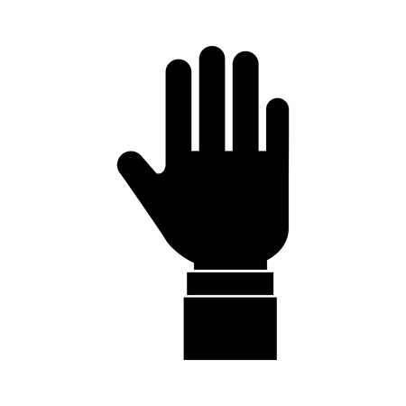 hand human stop icon vector illustration design