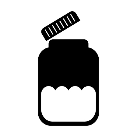 mason jar bottle icon vector illustration design