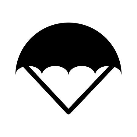 parachute open isolated icon vector illustration design