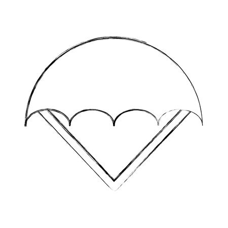 paracadute aperta isolato icona illustrazione vettoriale di progettazione Vettoriali