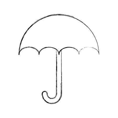 小さな傘のアイコン ベクトル イラスト デザインを分離しました。