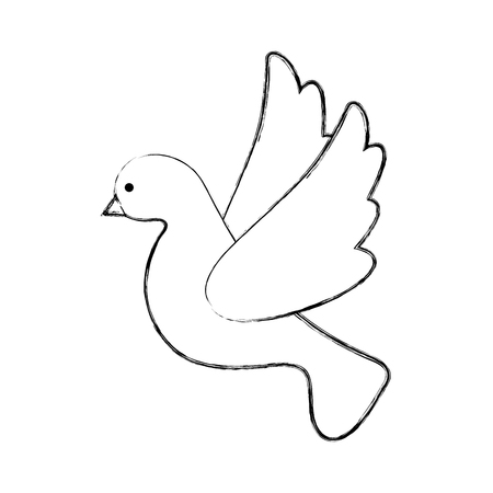 cute dove flying icon vector illustration design