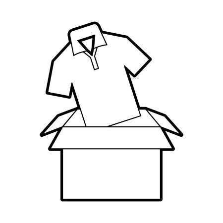 シャツ ベクトル イラスト デザイン包装ボックス カートン