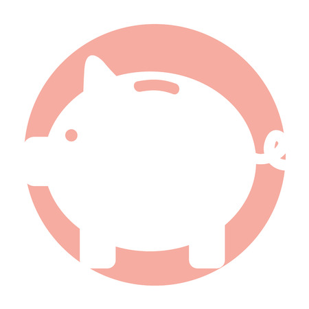 piggy savings isolated icon vector illustration design Çizim