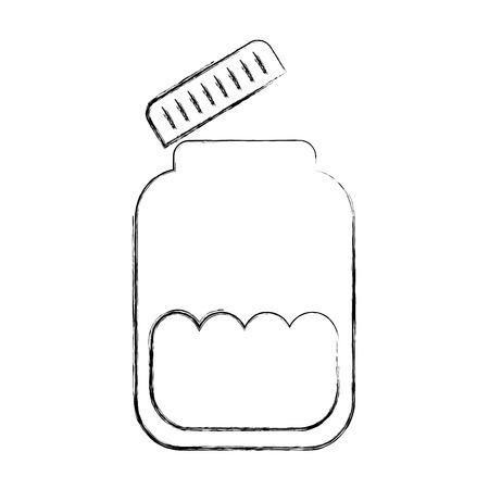 mason jar bottle icon vector illustration design