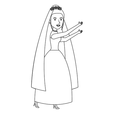 An cute wife avatar character vector illustration design.