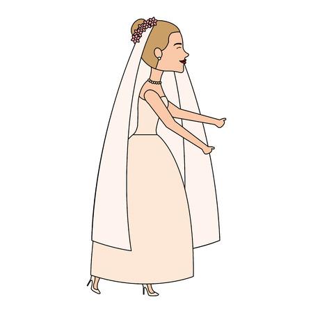 cute wife avatar character vector illustration design