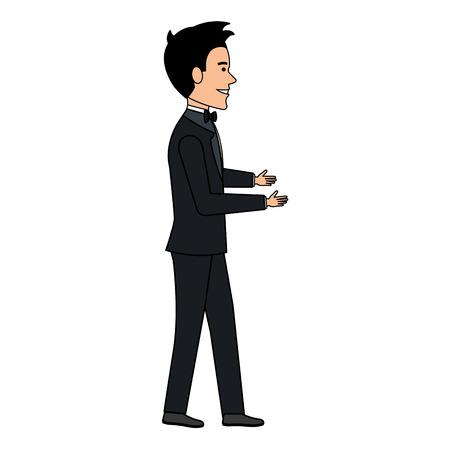 elegant husband avatar character vector illustration design