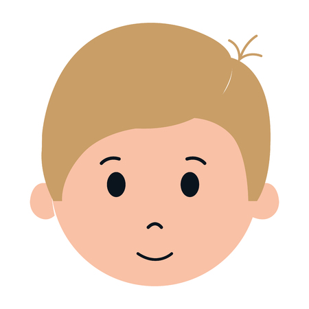 schoolkids: cute and little boy character vector illustration design Illustration