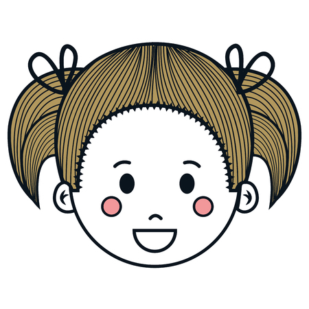 귀 엽 고 작은 소녀 문자 벡터 일러스트 레이 션 디자인