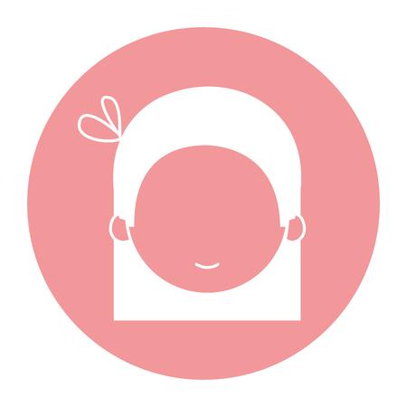Niedlich und kleines Mädchen Charakter Vektor-Illustration Design Standard-Bild - 82035227